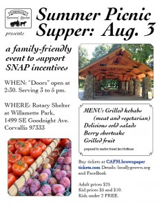 Summer picnic supper poster jpg version